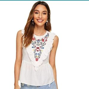 Embroid peplum